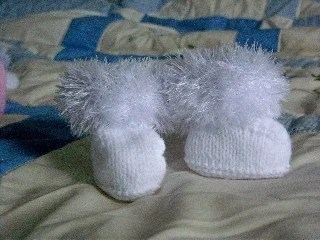 Little Snow Bootees-