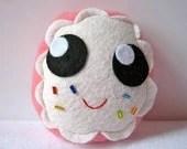 Sprinkled Pink Donut Plush - mypapercrane