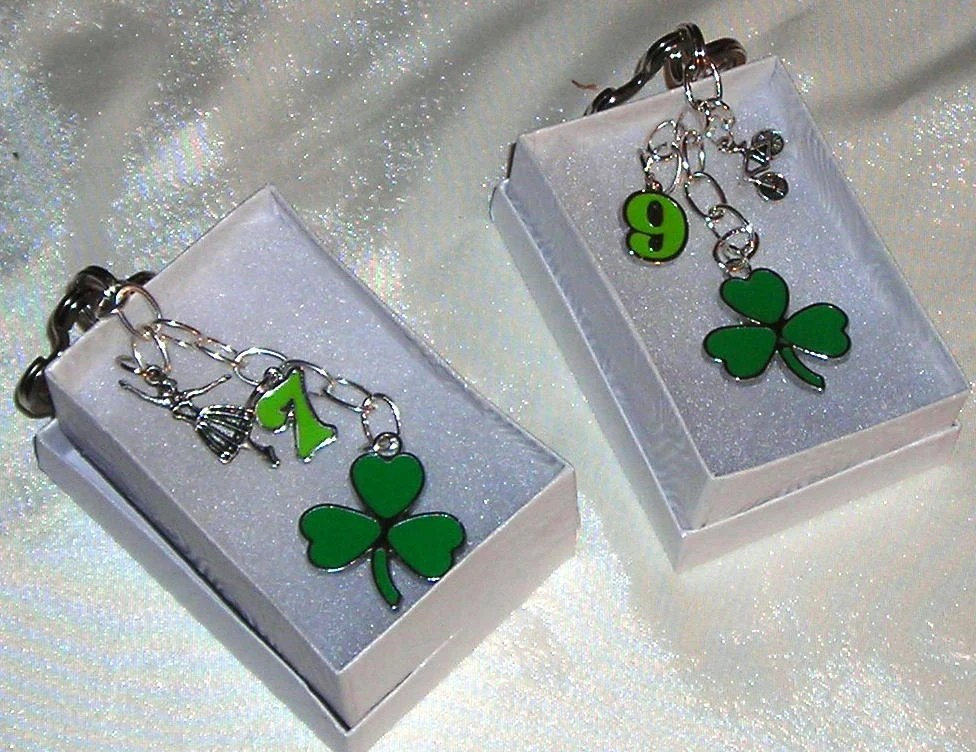Shamrock Key Ring with Charms