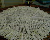 CROCHET SHAWL BLANKET New handmade lemon spider style  pretty shawl     650