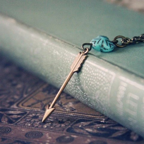 The Little Arrow Necklace - violetbella