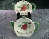 Vintage Tea Bag Holders: Two Tea Bag Holders