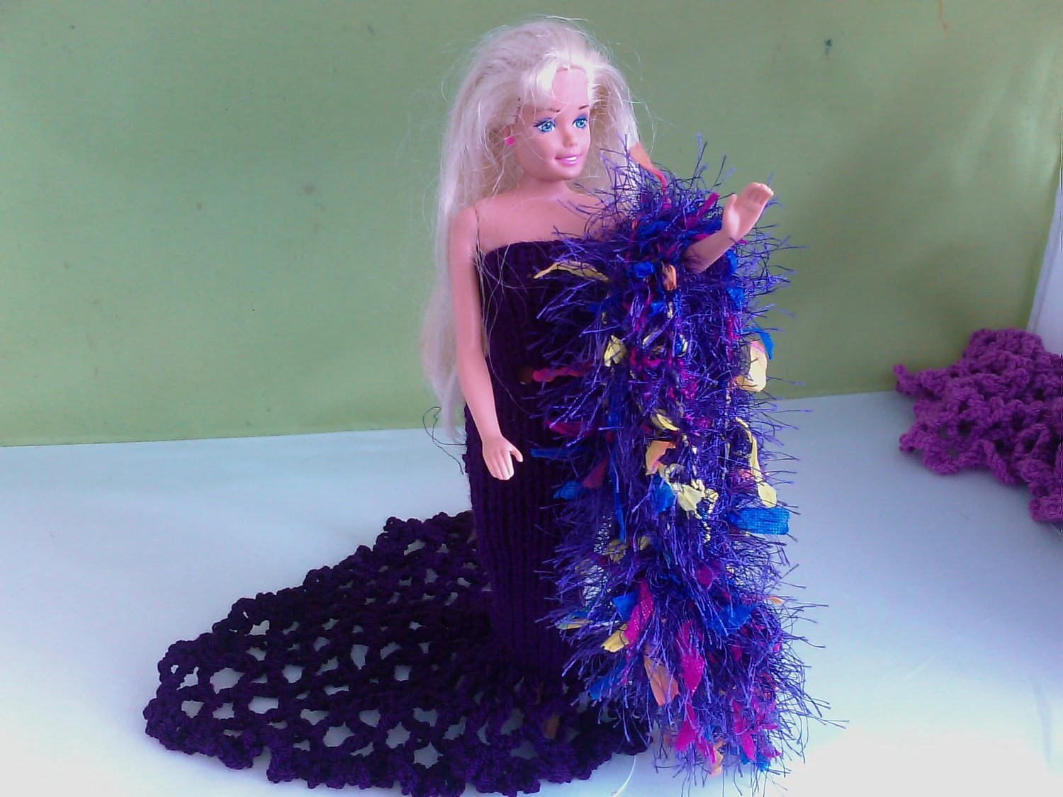 New handmade ROYAL WEDDING inspired wedding dress- barbie/sindy dolls clothes    761  x  55
