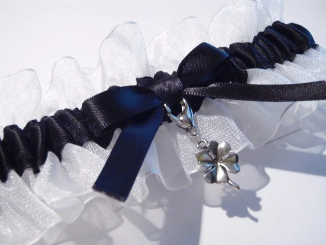 Black and White Lucky Charm Garter