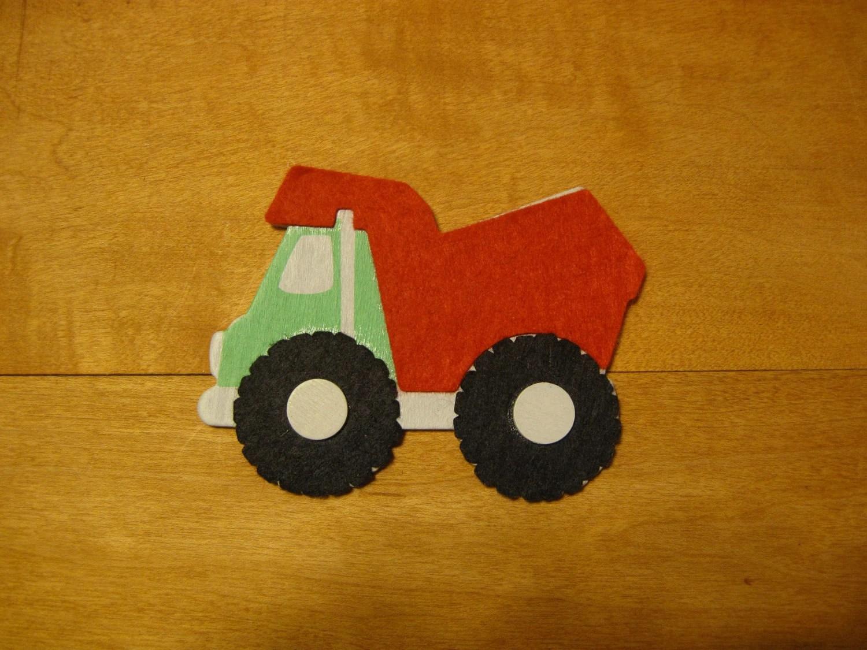 Large Truck Wood Magnet