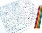 Mandalas Coloring Page, Printable- Page 2