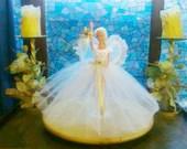 New handmade BARBIE Clothes CHRISTMAS FAIRY Doll dress,petticoat,wings,star (nannycheryl original)    903  x  92
