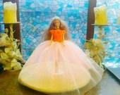 New handmade BARBIE Clothes CHRISTMAS BALLGOWN Doll dress, (nannycheryl original)    908  x  77