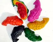 Giant Coy Fish Recycled Crayons- Set of 6
