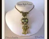 bead pattern square rivoli  pendant