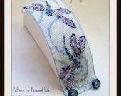 Hannah Rosner cuff bracelet bead pattern peyote stitch dragonfly