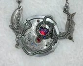 STEAMPUNK BORG QUEEN Jewellery Jewelry Dark Sorcerer Necklace Sci Fi Pendant