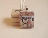 Will Drive the Get-Away Car - Girlfriend Scrabble Tile Jewelry - RuivoArmadillo