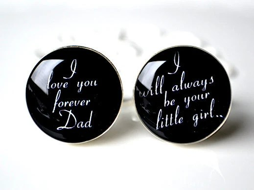 I love you forever dad cufflinks - Father of the bride keepsake gifts by White Truffle Studio - whitetruffle