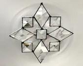 Star  Snowflake Beveled Stained Glass Suncatcher Bevels (9bv)  Handmade OOAK 247