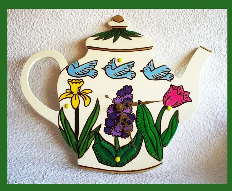 Clock  Wall Teapot