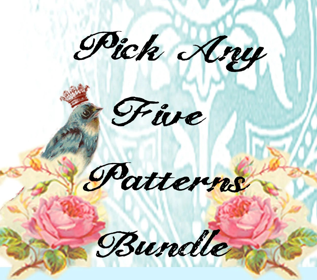 PICK 5 Patterns Any 5 PDF Patterns For One Low Price Matryoshka Doll Owl Dress Skirt Peasant Top.