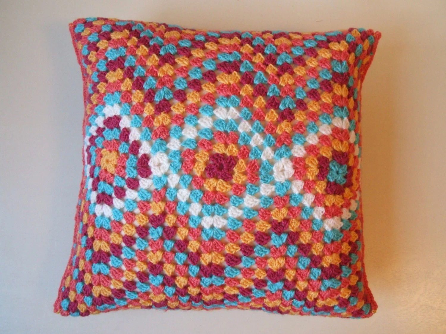 Crochet cushion cover Moroccan style