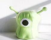 Green alien plush toy- large - Kklaus