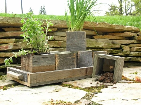 Modular Herb Garden With Tray - SouthsideWoodworking
