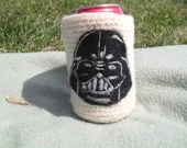 Needle felted Darth Vader  can cozy Koosie - Crystalcat1989