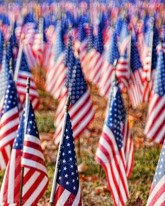 American Flags - 8x10 - Photographic Print - Made by artstudio54 on ETSY