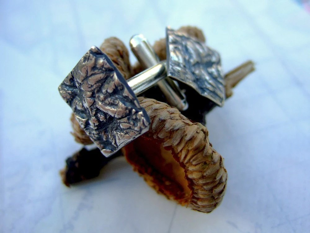 Oak and I, fine silver cuff links
