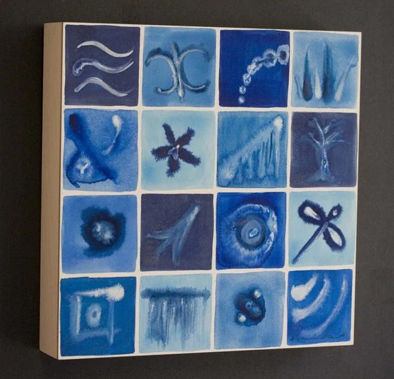 a painting by Artologica, showing themes from biology