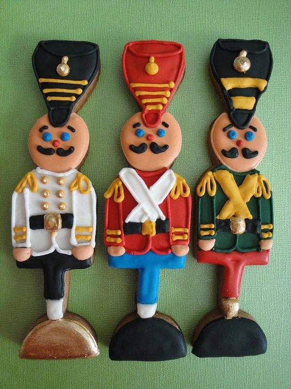 6 Christmas Cookies Toy Soldier Nutcracker Party Favor Cookies sold individually