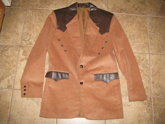 Corduroy and Leather Blazer