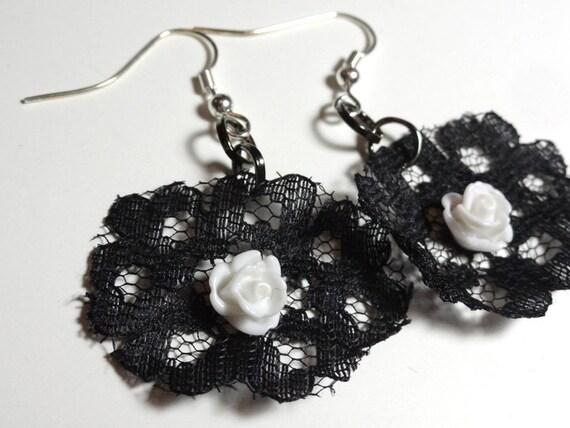 Lace Earrings - $7.00