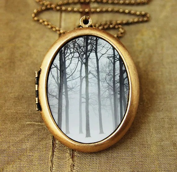 Ink And Snow-Fine Art Photo Locket Necklace-Grande Edition