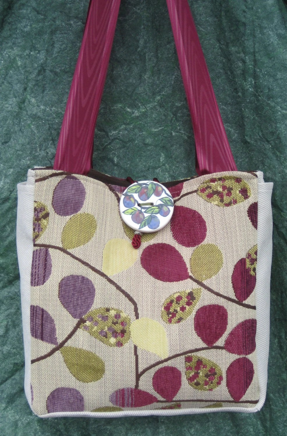 Tote Plum Dandy w/ Handcrafted Embellishment