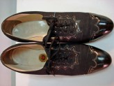 1930s Black Patent Leather and Canvas Walking Shoes RED CROSS CLASSIC Brogues Oxfords