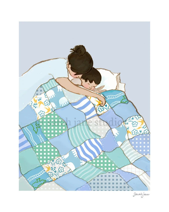 Children's Wall Art Print - Snuggle Me - 8x10 - Kids Nursery Room Decor