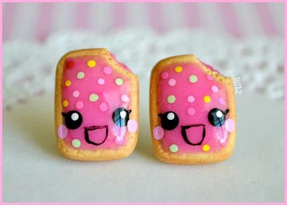 Happy Sprinkled Poptart Studs
