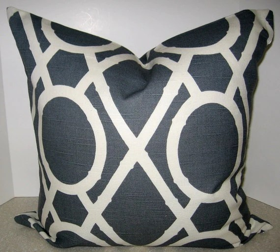 BOTH SIDES 20 X 20 Gray geometric pillow cover