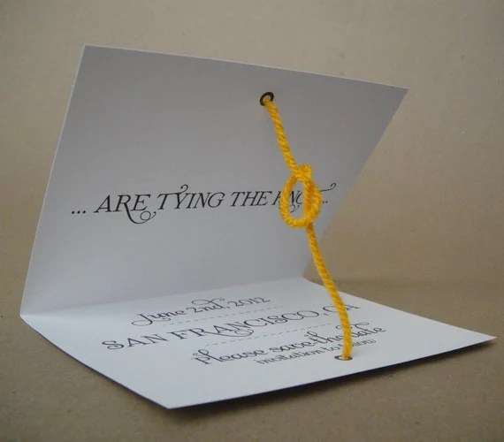 Actually Tying the Knot - Save the Date Cards - printed & shipped