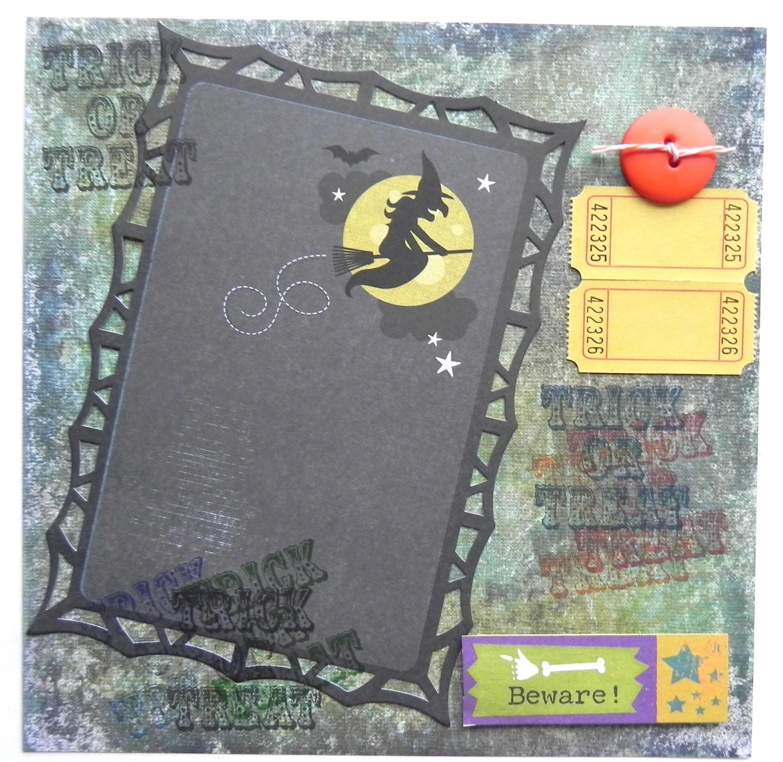 Premade Halloween Scrapbook Page - $6.00