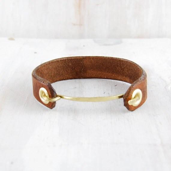 "Leather and Brass Women's Cuff, ""Jessi,"" fail CANOE"