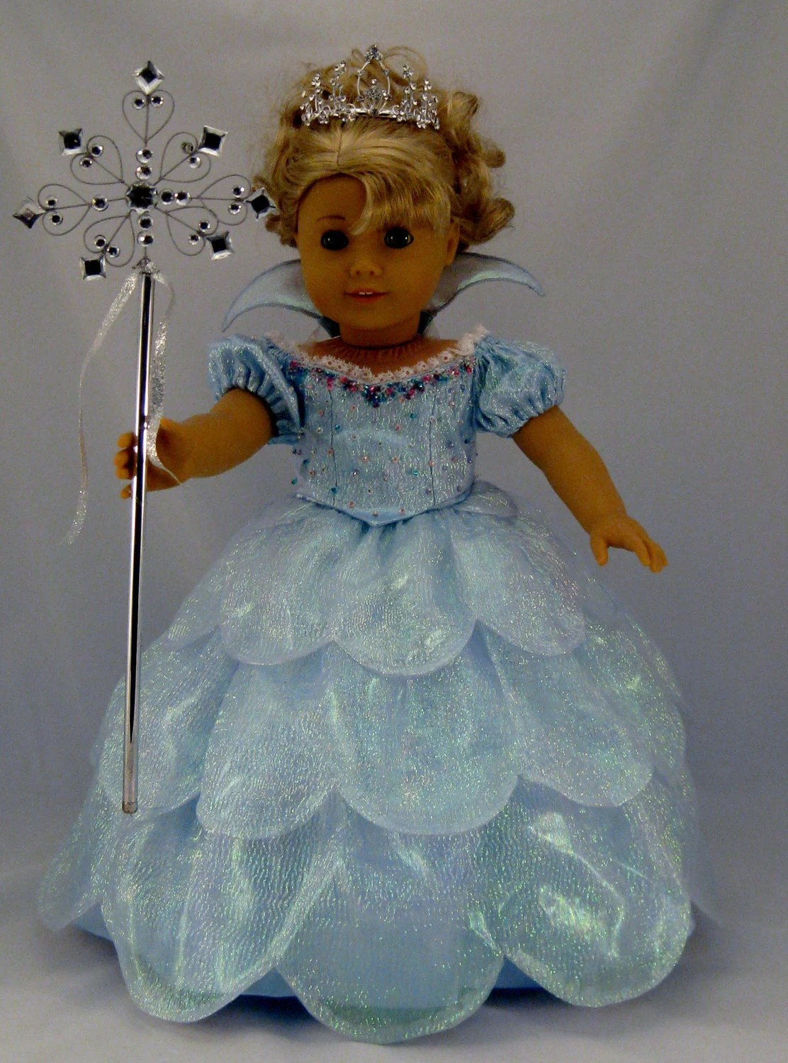 Galinda Good Witch Costume from Wicked sized to fit American Girl Doll or other 18 inch Dolls