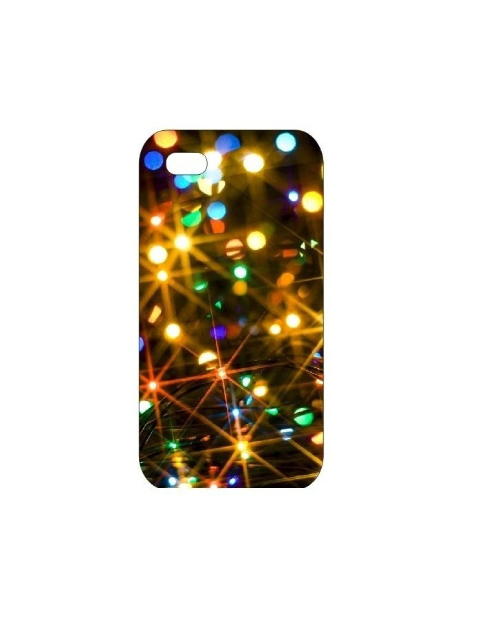Christmas Lights Customized Hard Shell iPhone 4S Case Fit for 4S and 4G