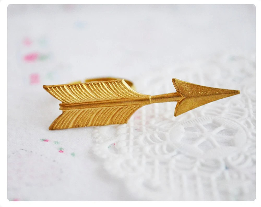 Gold Arrow Ring - Hunger Games Inspired