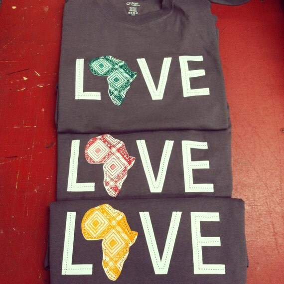 LOVE Africa T-shirt: Small Orange