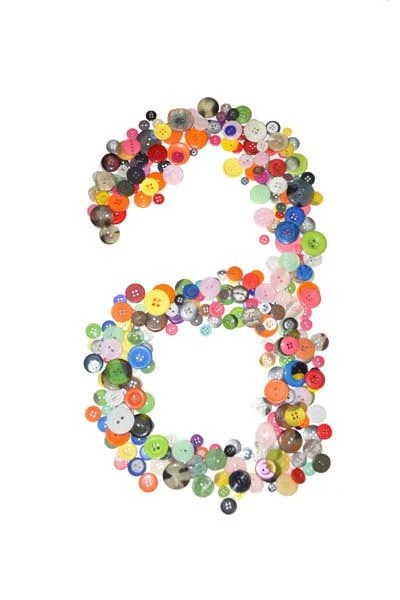 Button Letters, 8x10 Print - LizDzuroPhotography