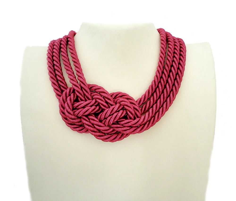 Tangerine Sailor's Knot Necklace-Made to Order