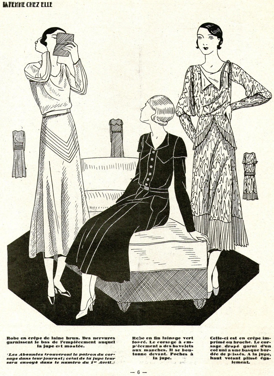 1930s Women's Magazine La Femme Chez Elle 1 March 1932