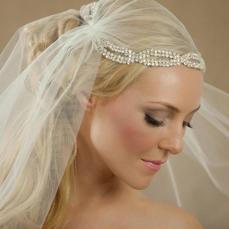 NEW 34 Inch Diana Bridal Cap Wedding Veil