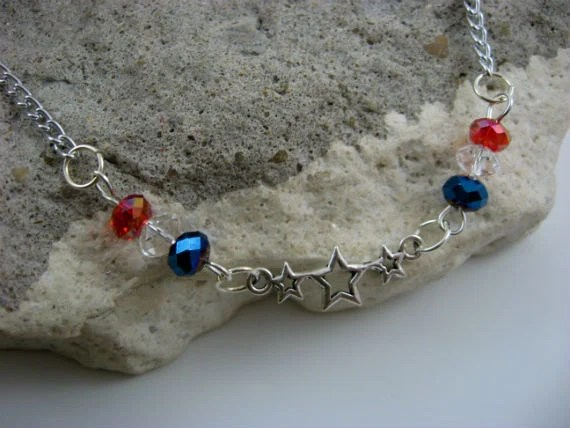 Sparkling Stars and Stripes Necklace
