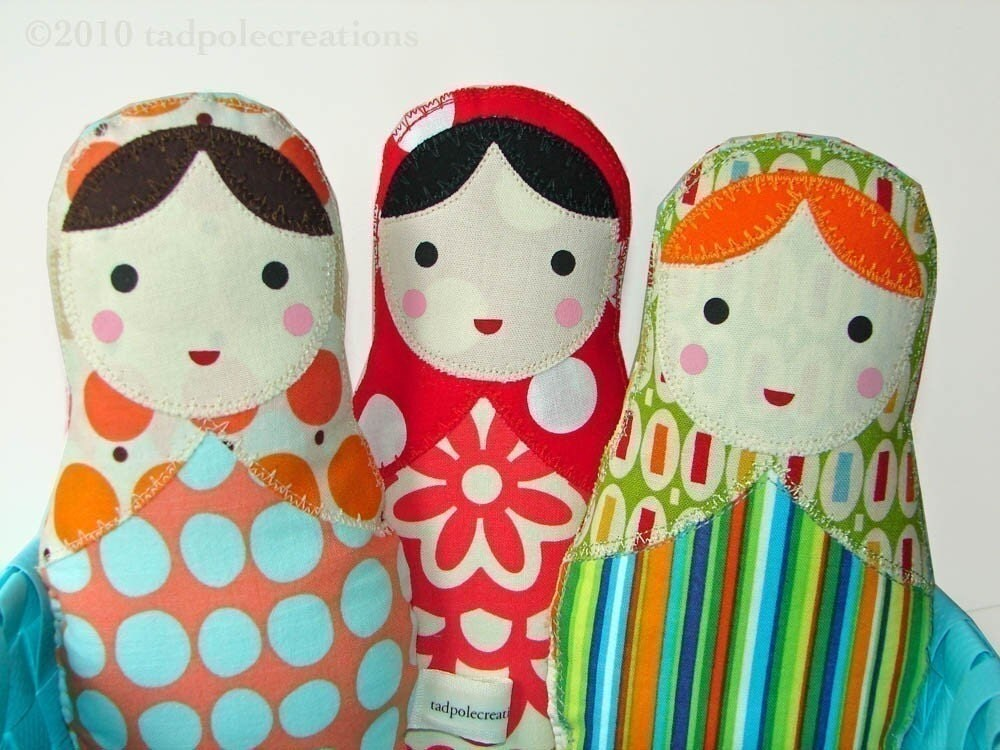 Babushka Russian Matryoshka Cloth Dolls